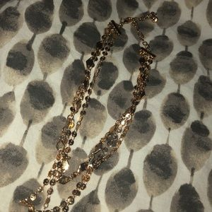 BaubleBar Jewelry - NWOT Baublebar Aimee Layered Y-Chain goldNecklace